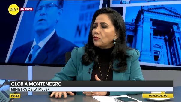 La ministra de la Mujer y Poblaciones Vulnerables, Gloria Montenegro, pidió celeridad al Ministerio Público.
