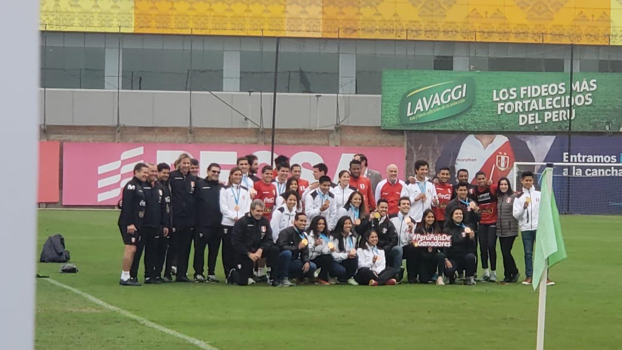 Medallistas de los Juegos Panamericanos en la Videna.