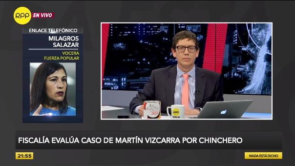 Milagros Salazar en declaraciones a RPP.