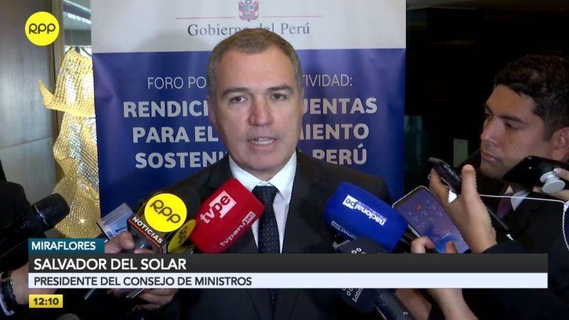 """Salvador del Solar calificó de """"importantísima"""" la conversación que hoy sostengan el Ejecutivo con el Legislativa."""