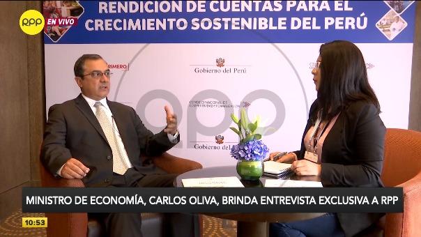 Carlos Oliva, ministro de Economía, en entrevista exclusiva con RPP.