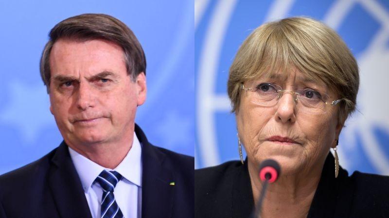 Jair Bolsonaro lanzó una durísima crítica a la expresidenta de Chile Michelle Bachelet.