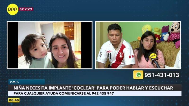 Los esposos Rodríguez Cornejo buscan ayuda para que su hija recupere la audición.