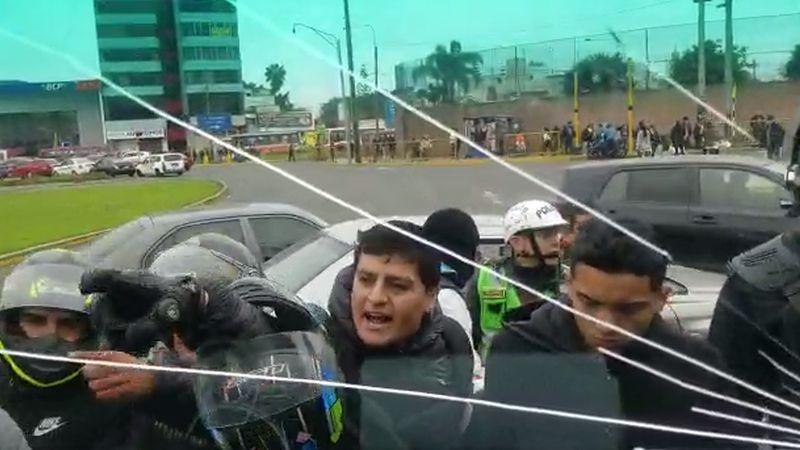 Video de la Municipalidad de Surco que evidencia la violencia del ataque a los fiscalizadores.