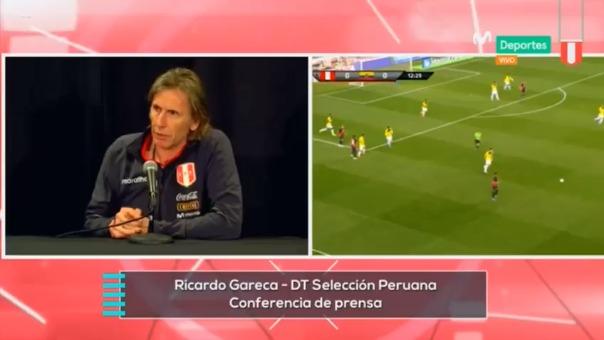 Ricardo Gareca dio una conferencia de prensa tras el amistoso ante Ecuador.