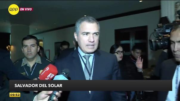 Salvador del Solar declaró a la prensa tras su presentación.