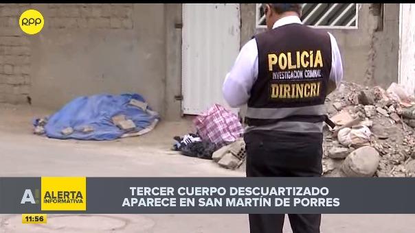 Tercer cuerpo fue hallado por vecinos en el distrito de San Martín de Porres.