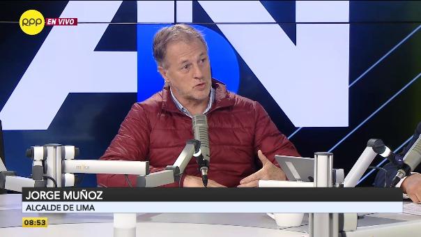 Jorge Muñoz, alcalde de Lima, en RPP Noticias.
