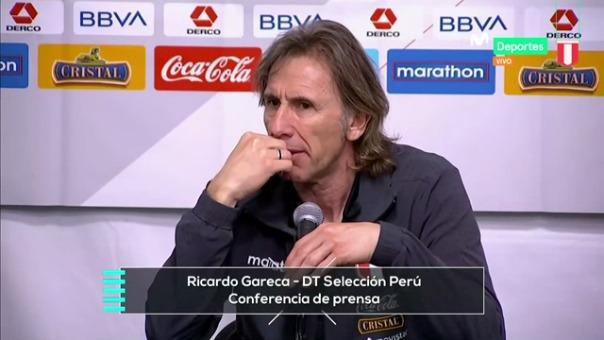 Ricardo Gareca en conferencia de prensa luego del triunfo ante Brasil