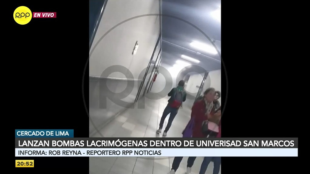 Las bombas lacrimógenas  fueron lanzadas a dos facultades universitarias.