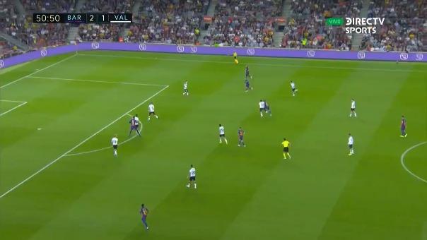 Así marcó Gerard Piqué el tercer tanto de Barcelona.