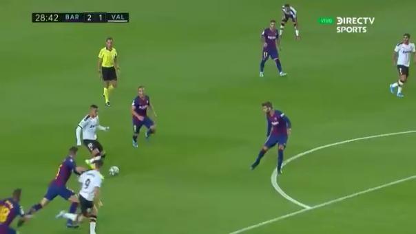 Así fue el gol de Kevin Gameiro frente al Barcelona.