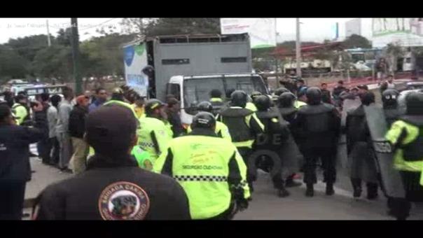 Video grabado por personal del Municipio de Santiago de Surco.