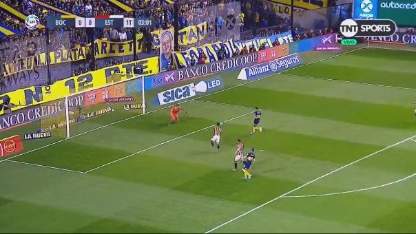 Bebelo' Reynoso anotó el 1-0 para Boca Juniors ante Estudiantes de la Plata por la Súperliga Argentina