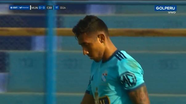 Así fue el gol errado por Christofer Gonzales ante Deportivo Municipal.