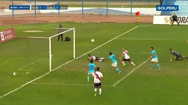 Este fue el gol de Cristian Palacios en el triunfo de Sporting Cristal contra Deportivo Municipal.