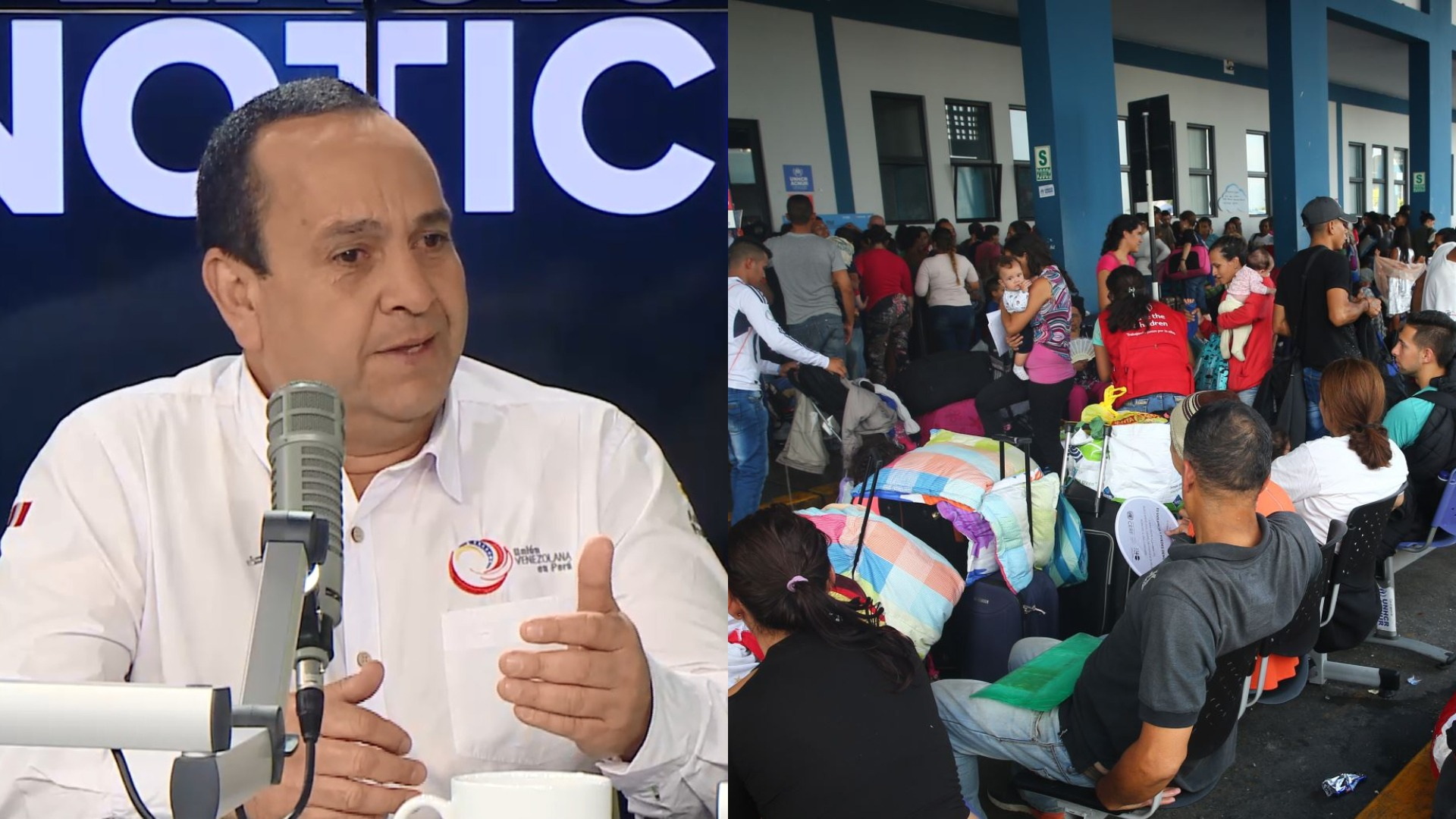 Entrevista a  Óscar Pérez, presidente de la ONG Unión Venezolana en el Perú.