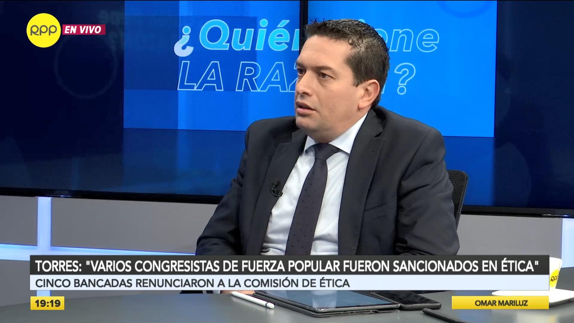 El parlamentario aseguró que la recomposición de la Comisión de Ética fue democrática.