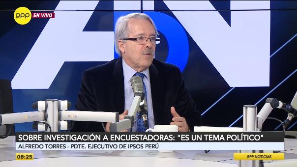 Alfredo Torres, presidente Ejecutivo de Ipsos Perú.