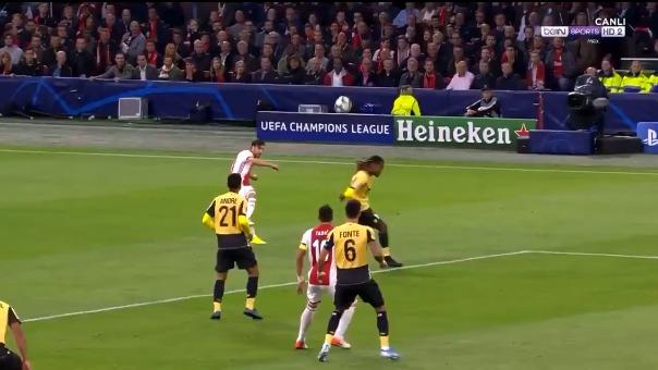 Así fue el gol de Quincy Promes para el Ajax.
