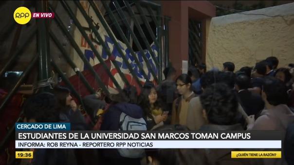 Estudiantes toman campus de UNMSM