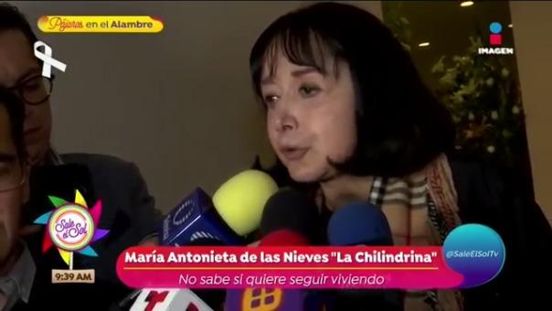 María Antonieta de las Nieves habla por primera vez sobre el fallecimiento de su esposo.