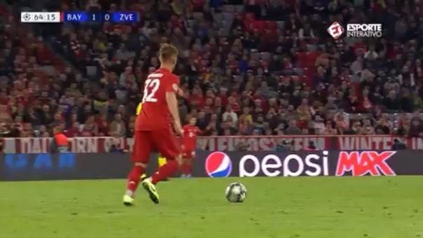 Así fue el gol que se falló Robert Lewandowski.