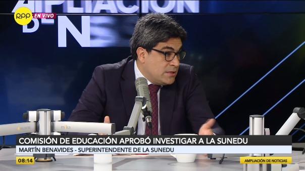 Martín Benavides, superintendente de la Sunedu.
