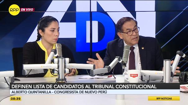 Letona y Quintanilla debatieron sobre candidatos al TC.