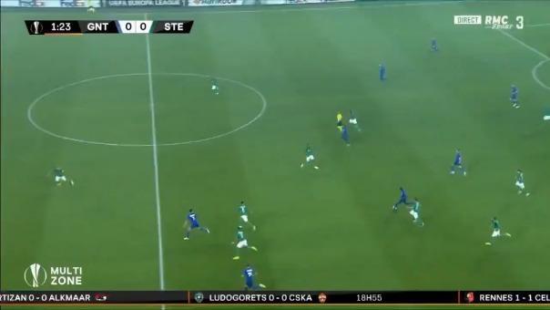 Así fue el gol de Jonathan David a los 2 minutos.