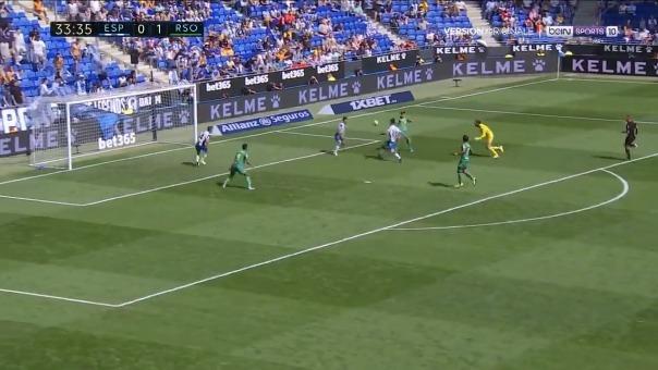 Así fue la jugada que terminó en el gol de Willian José.