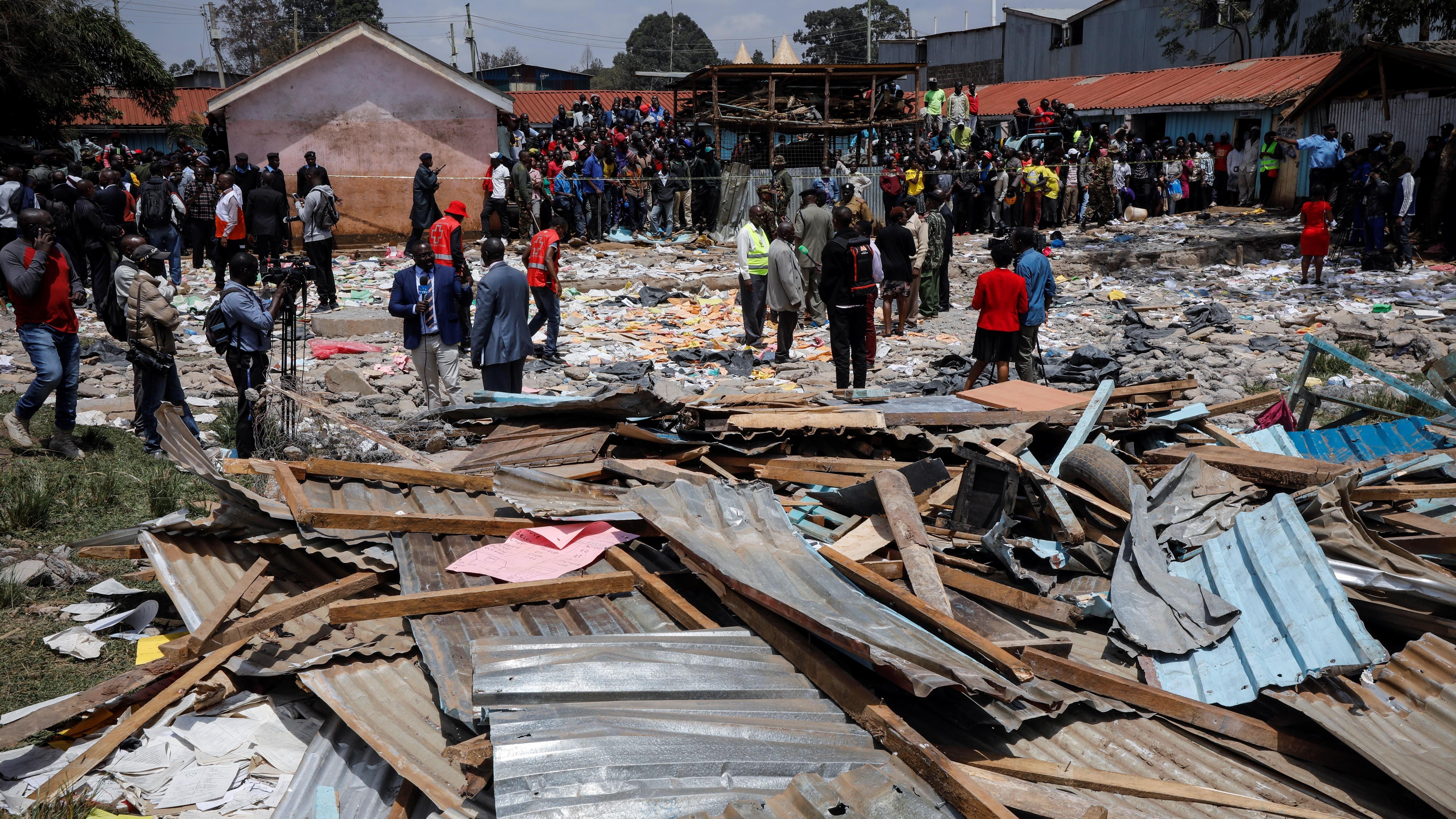 El derrumbe afectó a la escuela Precious Talent School en la zona de Ngando, Nairobi.