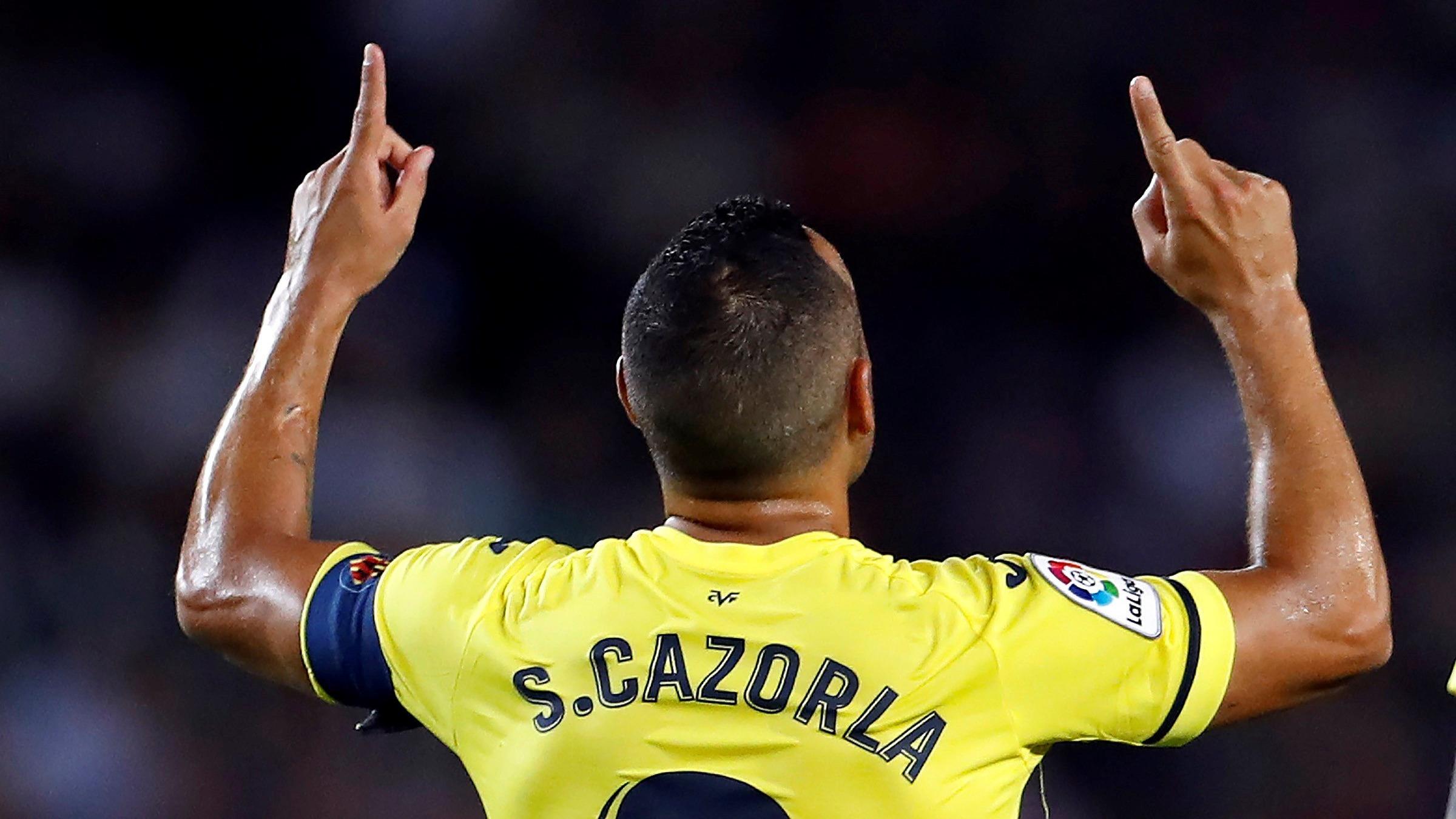 Así fue el golazo de Santi Cazorla.