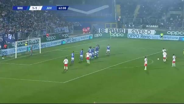 Así fue el gol de Miralem Pjanic ante Brescia.