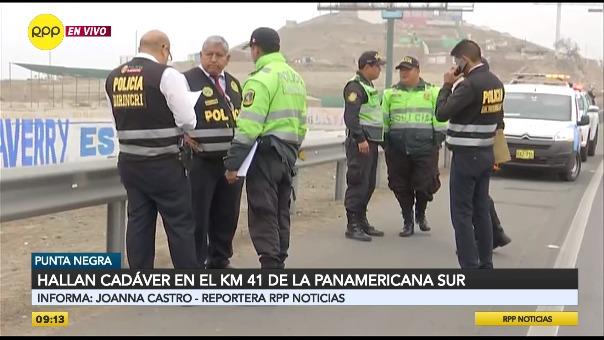 Hallan cadáver en el kilómetro 41 de la Panamericana Sur.