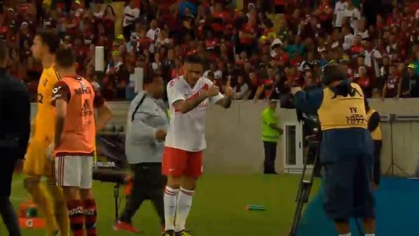 Así fue la expulsión de Paolo Guerrero.