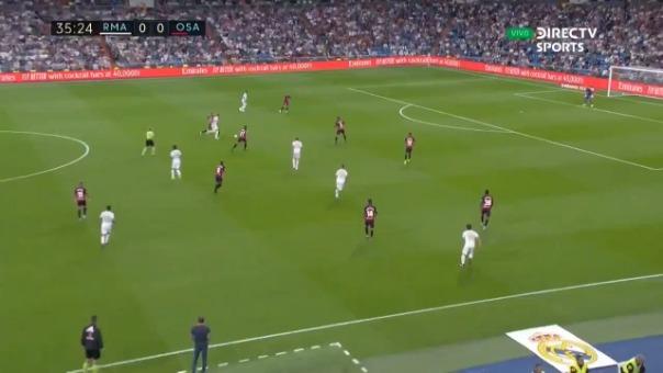 Vinicius abrió el marcador para Real Madrid ante Osasuna por LaLiga.