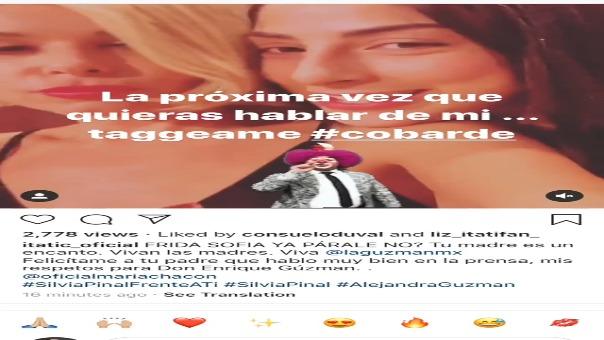 Alejandra Guzmán: Itatí Cantoral, la popular 'Soraya', defiende a la cantante y Frida Sofía la insulta
