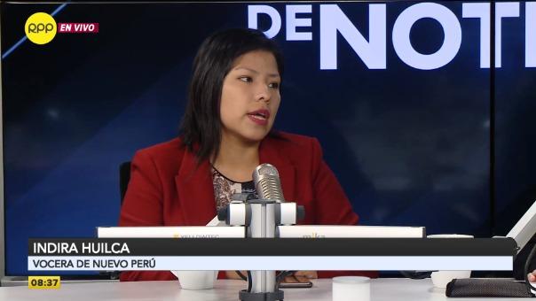 Indira Huilca es vocera del Nuevo Perú.