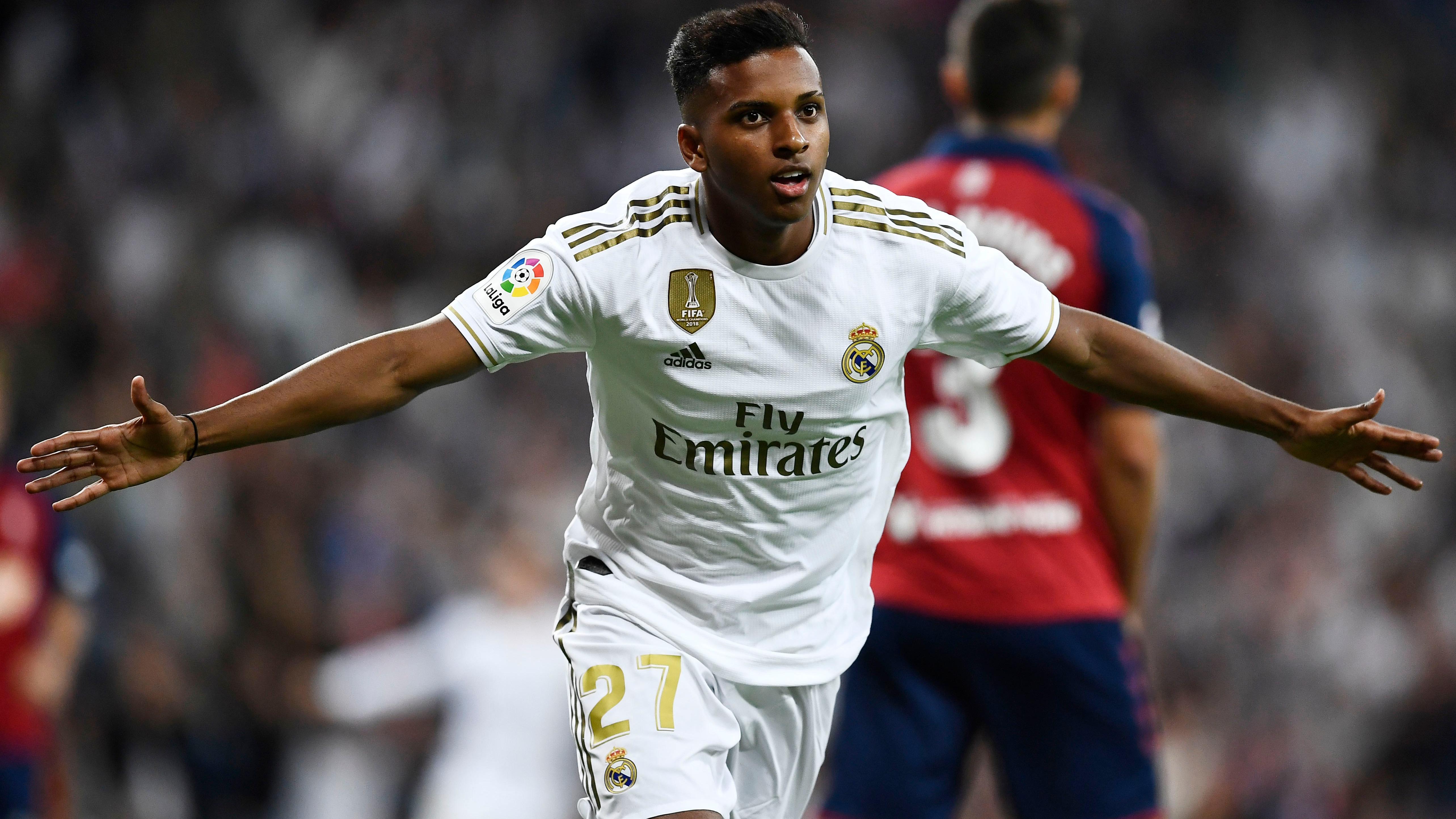 Rodrygo con la camiseta del Real Madrid.