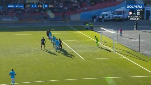 Así fue el gol de Kevin Ruiz contra Sporting Cristal.
