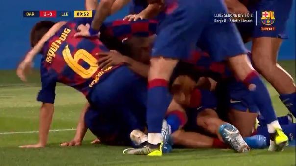 Así fue el gol de Alex Collado ante el Atlético Levante.