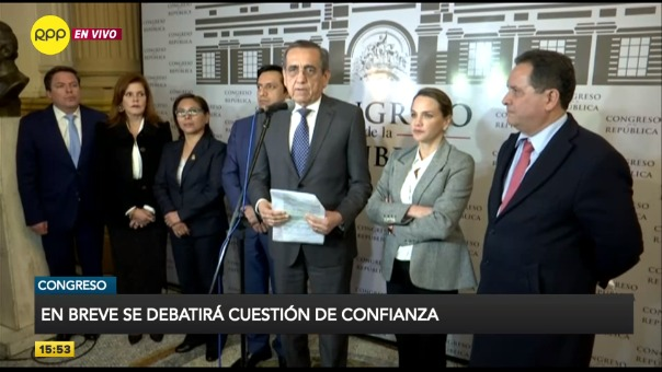 Cinco bancadas anunciaron que votaran a favor del pedido de confianza.