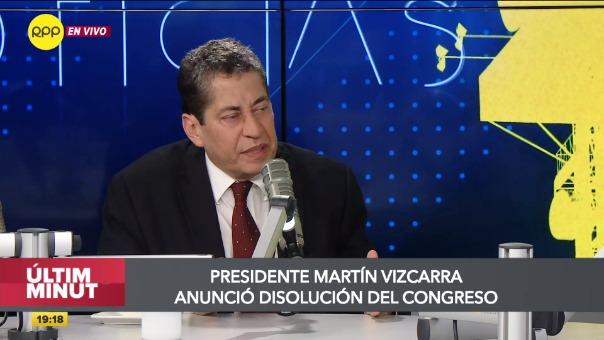 El magistrado del TC brindó declaraciones sobre el anuncio de la disolución del Congreso.