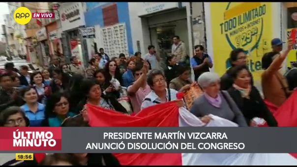 Protestas en el interior del país.