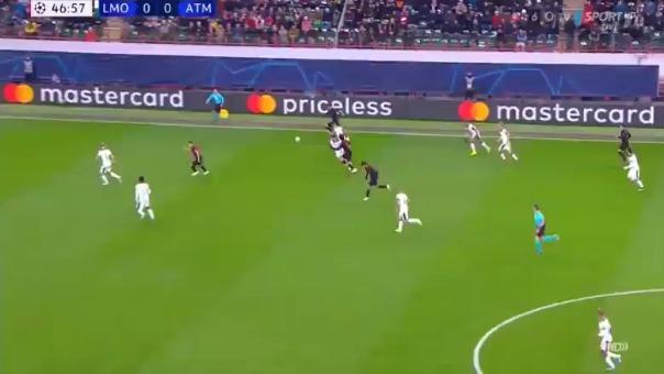 Así fue el gol de Joao Félix con el Atlético de Madrid.