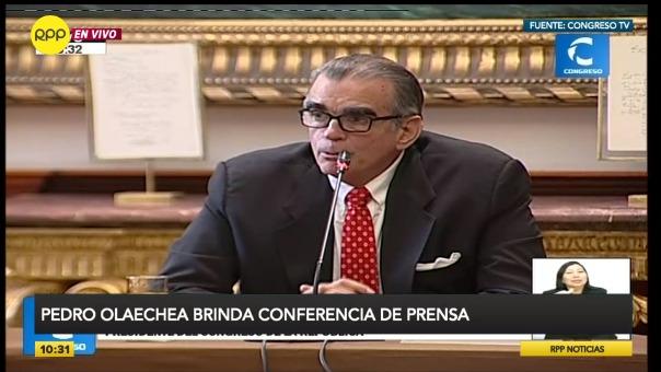 El presidente de la Comisión Permanente dio declaraciones a la prensa extranjera.