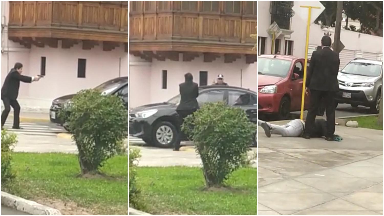 El trabajador de la Municipalidad de Jesús María logró reducir a uno de los ladrones.