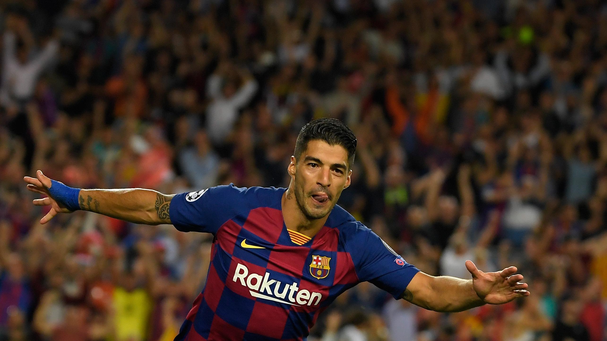 Luis Suárez anotó el 2-1 de Barcelona ante el Inter de Milán.