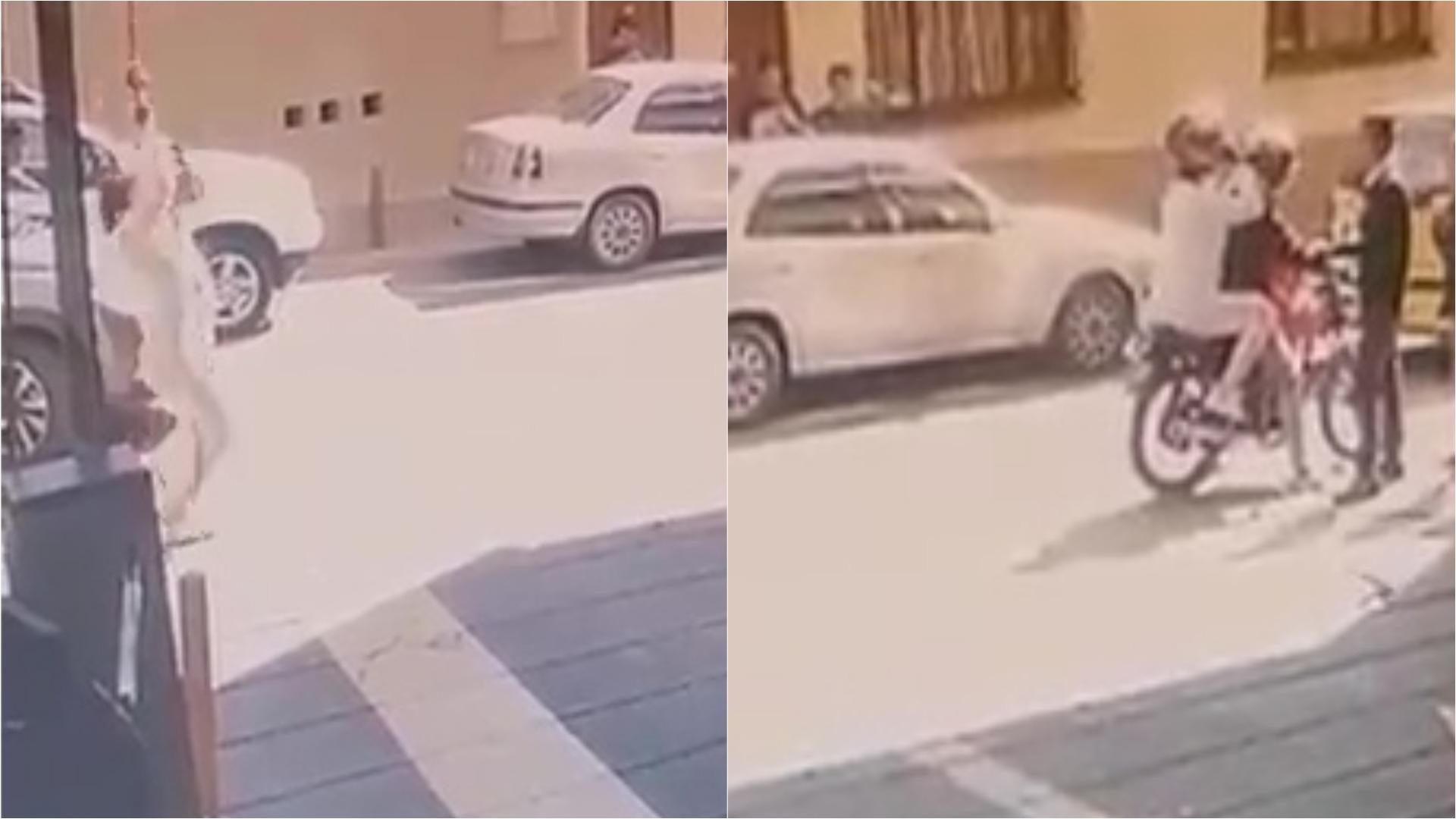 La congresista huyó de la justicia con la ayuda de un motorizado.